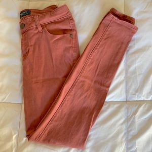 Rosy Pink Brushed Cotton Stretch Rock Star Jeans